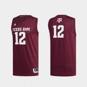 College Swingman Basketball Maroon Basketball Swingman Aggie Jersey #12 Men 561640-278