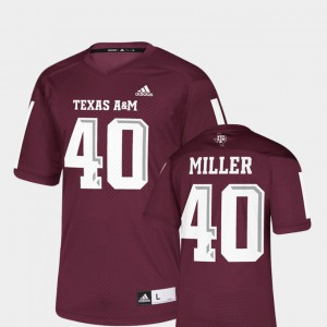 Men #40 NFLPA Alumni Chase Maroon Replica University Texas A&M Aggies Von Miller Jersey 550547-818