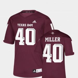 Maroon Men College Replica Texas A&M Von Miller Jersey #40 NFLPA Alumni Chase 621190-873