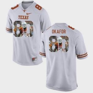 University of Texas Alex Okafor Jersey White Pictorial Fashion #80 NCAA Men's 627489-979