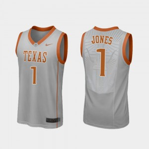 College Basketball UT Andrew Jones Jersey University Gray #1 For Men Replica 792328-352