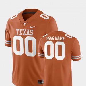 Men's Texas Orange #00 University of Texas Customized Jerseys Alumni College Football 2018 Game 194910-429