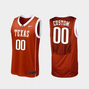 Replica College Basketball For Men's Burnt Orange Texas Longhorns Customized Jersey #00 College 360323-468