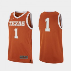 Texas Orange College Basketball Stitched #1 Men's Replica UT Jersey 420174-219