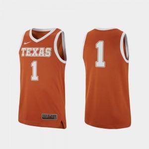 UT Jersey For Men #1 Replica Texas Orange College Basketball College 397355-525