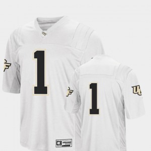 #1 White Embroidery Colosseum Knights Jersey College Football For Men's 260627-366