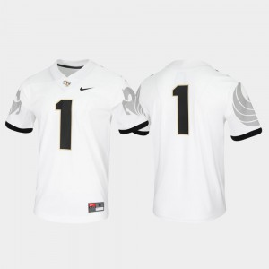 Mens Game Untouchable Embroidery UCF Knights Jersey White #1 870315-993