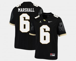 American Athletic Conference UCF Knights Brandon Marshall Jersey Black College Football Official Mens #6 154179-215
