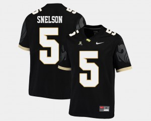 American Athletic Conference NCAA For Men #5 College Football Black University of Central Florida Dredrick Snelson Jersey 349972-653