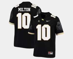 Men's #10 Black American Athletic Conference Alumni College Football UCF Mckenzie Milton Jersey 522351-951
