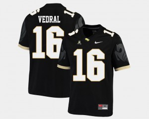 Black University of Central Florida Noah Vedral Jersey College #16 American Athletic Conference Men College Football 139241-337