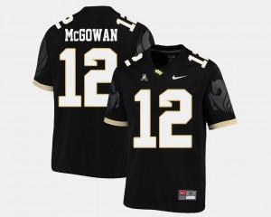 UCF Knights Taj McGowan Jersey College Football High School #12 Black Men American Athletic Conference 792668-758