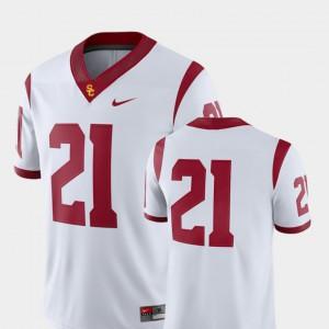 For Men Alumni White College Football 2018 Game USC Trojan Jersey #21 220383-638