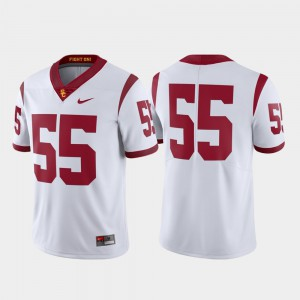 Football For Men Limited White #55 Stitch USC Trojans Jersey 145435-782
