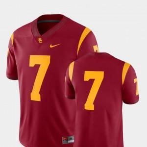 Stitched Cardinal 2018 Game USC Trojan Jersey #7 Men College Football 832362-547