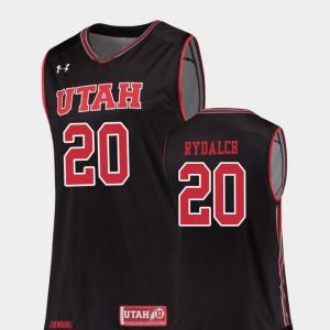 #20 Black Official Replica University of Utah Beau Rydalch Jersey College Basketball Men's 530963-961