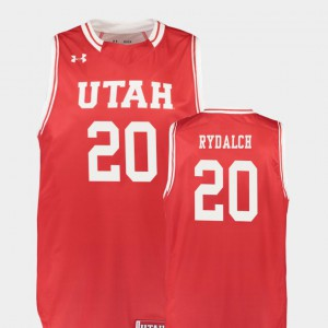 Official #20 Replica Red Utes Beau Rydalch Jersey For Men's College Basketball 961139-897