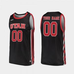 University of Utah Customized Jerseys Replica Mens 2019-20 College Basketball College Black #00 738335-669