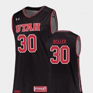 Alumni #30 College Basketball Men Replica Black University of Utah Gabe Bealer Jersey 493468-896