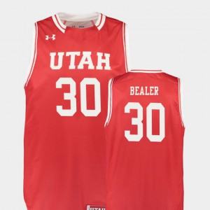 Stitched Replica #30 College Basketball Utah Utes Gabe Bealer Jersey Red For Men 214339-114