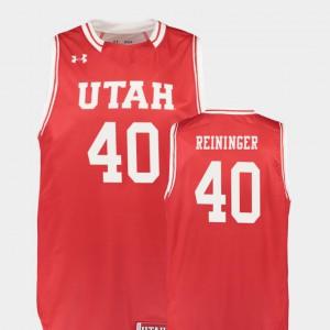 College Basketball Replica Utah Utes Marc Reininger Jersey High School Red Men #40 965400-448