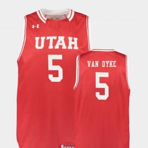 Red For Men Replica #5 College Basketball University Utes Parker Van Dyke Jersey 746551-906