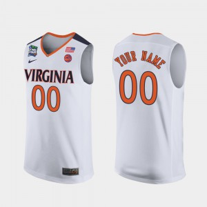 White 2019 Final-Four Virginia Cavaliers Customized Jerseys Stitched #00 Men's 720961-124