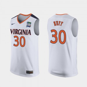 For Men's Replica 2019 Final-Four UVA Jay Huff Jersey #30 White University 626040-871