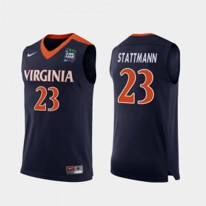 Navy High School 2019 Final-Four #23 For Men Replica UVA Cavaliers Kody Stattmann Jersey 710812-388