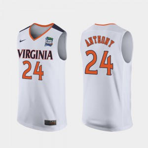 Replica 2019 Final-Four For Men's White #24 College Cavalier Marco Anthony Jersey 723162-166