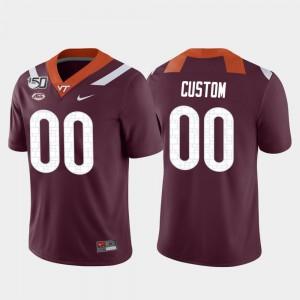Game #00 Virginia Tech Custom Jersey Player Mens Maroon College Football 804544-475
