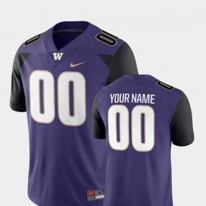 2018 Game #00 College Purple Washington Huskies Customized Jerseys For Men's College Football 561357-157