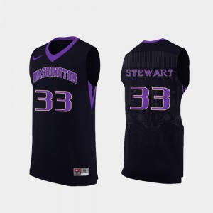 Washington Huskies Isaiah Stewart Jersey For Men's #33 College Black Replica College Basketball 813862-202
