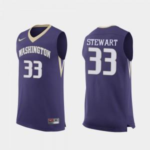 #33 Replica Player UW Huskies Isaiah Stewart Jersey For Men Purple College Basketball 124219-331