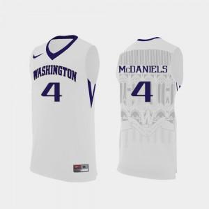 #4 University of Washington Jaden McDaniels Jersey College Basketball Replica NCAA White For Men 539558-202