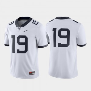Game Embroidery West Virginia University Jersey For Men's Football #19 White 868153-974