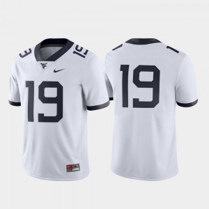 Men's #19 Game WVU Jersey Stitch White 427785-365