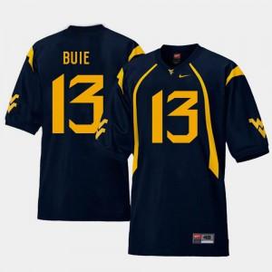 NCAA Mountaineers Andrew Buie Jersey Replica Navy #13 Men's College Football 238225-715