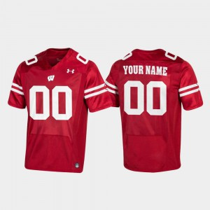Replica Embroidery #00 Wisconsin Badger Customized Jerseys Red For Men Football 305705-601