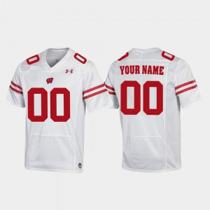 #00 Replica Football Badger Customized Jerseys White Men's Stitched 935984-236