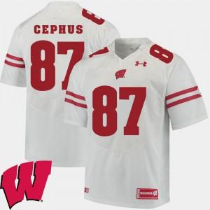 Official White 2018 NCAA #87 Men Alumni Football Game Wisconsin Badger Quintez Cephus Jersey 137766-821