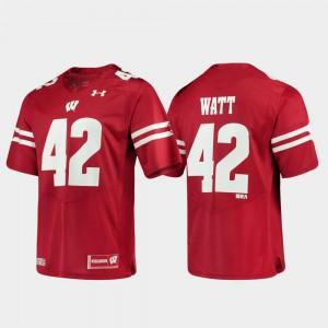 #42 Alumni Football Game High School Wisconsin T.J. Watt Jersey For Men's Red Replica 999359-915