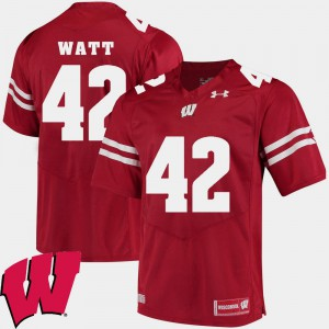 Mens 2018 NCAA Red #42 Alumni Football Game UW T.J. Watt Jersey Official 906977-187