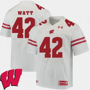 #42 White 2018 NCAA Alumni Football Game College Men Badger T.J. Watt Jersey 216795-674