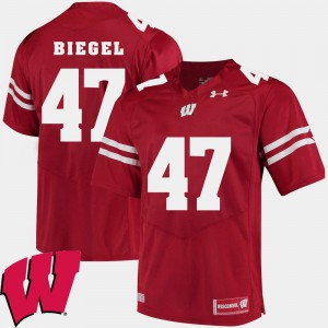 University of Wisconsin Vince Biegel Jersey Alumni Football Game Red Men's 2018 NCAA NCAA #47 372824-183