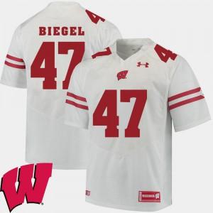 Alumni UW Vince Biegel Jersey Alumni Football Game #47 White For Men's 2018 NCAA 452997-114