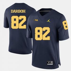 #82 University of Michigan Amara Darboh Jersey Stitch For Men Navy Blue College Football 708210-524