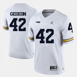College Football College Wolverines Ben Gedeon Jersey Men #42 White 648462-691
