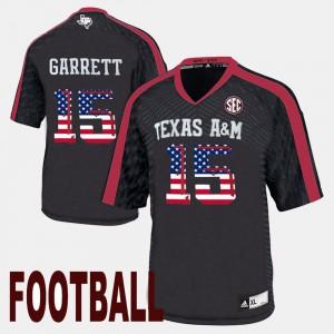 Men University Black Texas A&M University Myles Garrett Jersey #15 US Flag Fashion 769802-212