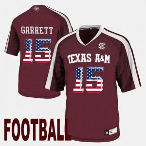 For Men Maroon US Flag Fashion University TAMU Myles Garrett Jersey #15 296144-490